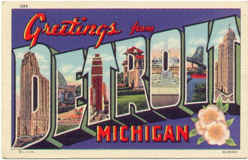 Large letter postcards ll05 detroit michigan greetings from detroit michigan linen american greeting publisherscurtiech 6a h2240 unused vg some corner wear 500 m4hsunfo